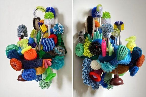 Etonnants Récifs Coralliens Sculptés avec des Objets Recyclés Lynn Aldrich
