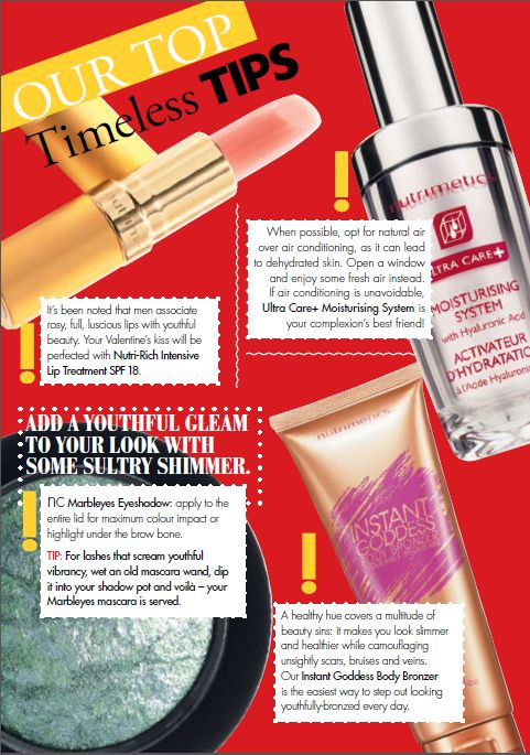 Nutrimetics Top Timeless Tips! Check out products at  www.nutrimetics.c...