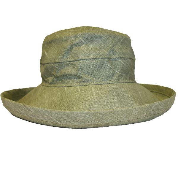The Noosa Hat - Khaki Linen | Topshow