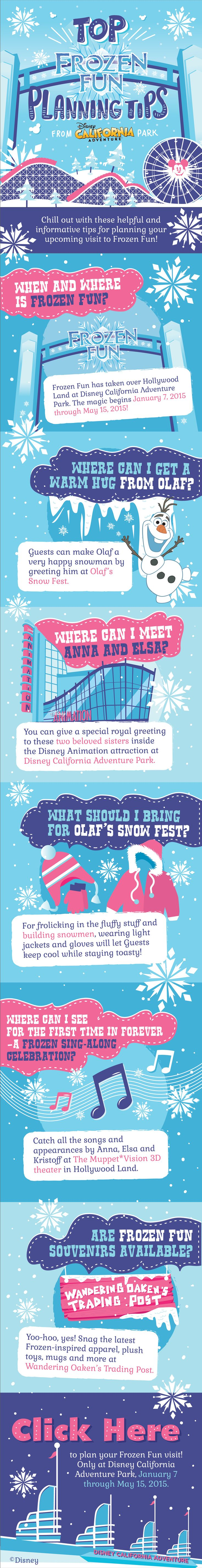 Plan your Frozen Fun experience at Disney California Adventure with this handy guide!
