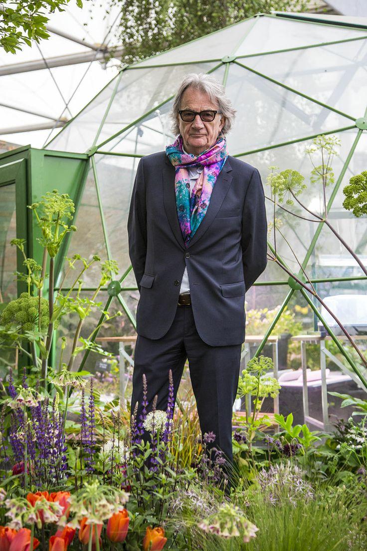 Sir Paul Smith, CBE, RDI,  English fashion designer, take a turn around the RHS Chelsea garden