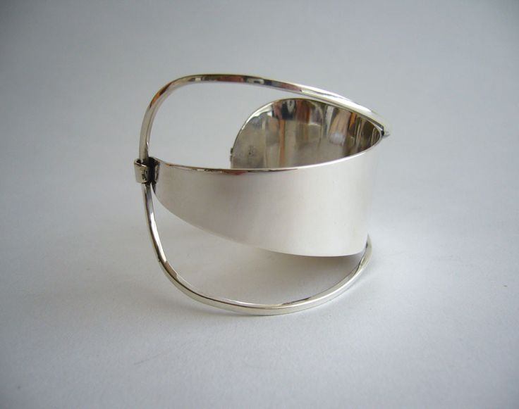 Paul Lobel Sterling Silver Cuff Bracelet | From a unique collection of vintage cuff bracelets at https://www.1stdibs.com/jewelry/bracelets/cuff-bracelets/