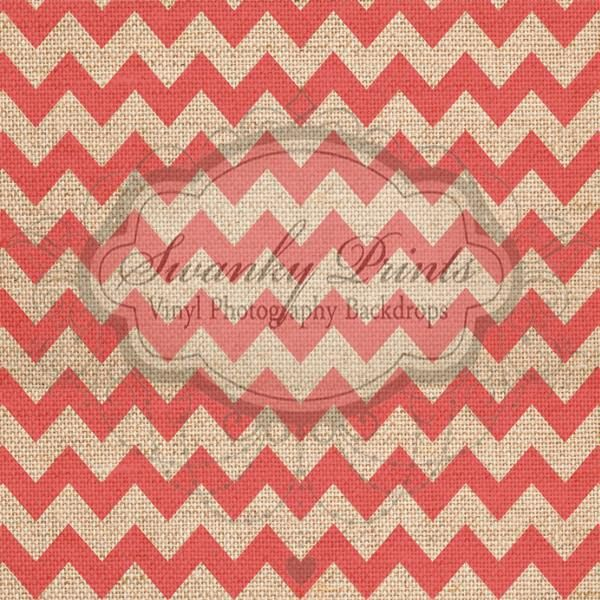 Red Textured Chevron - Oz Backdrops and Props