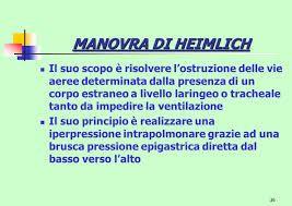 Obiettivo della Manovra di Heimlich