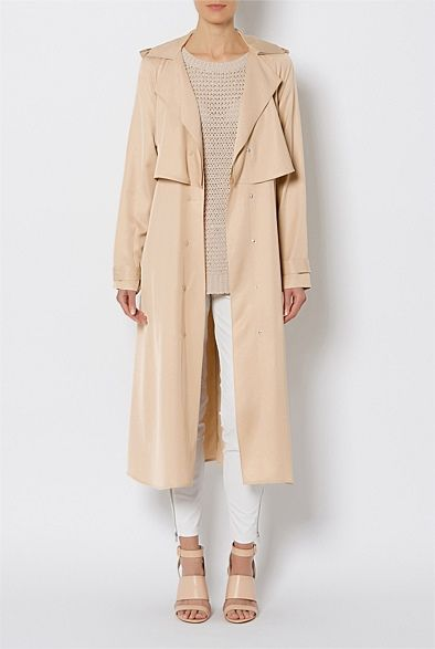 Women's Coats, Blazers & Leather Jackets - Witchery Online - Soft Luxe Trench
