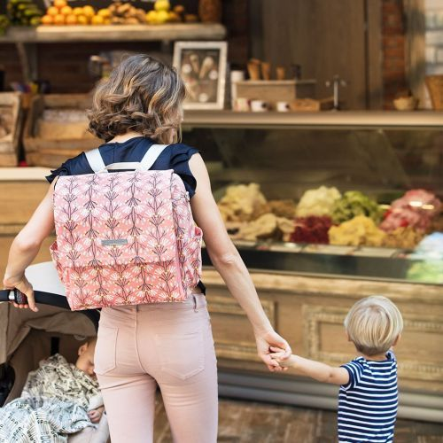 Best stylish backpack diaper bag | Petunia Pickle Bottom Boxy Backpack in blissful brisbane | Find more at http://diaperbagsblog.com/petunia-pickle-bottom-diaper-bags #backpackdiaperbag