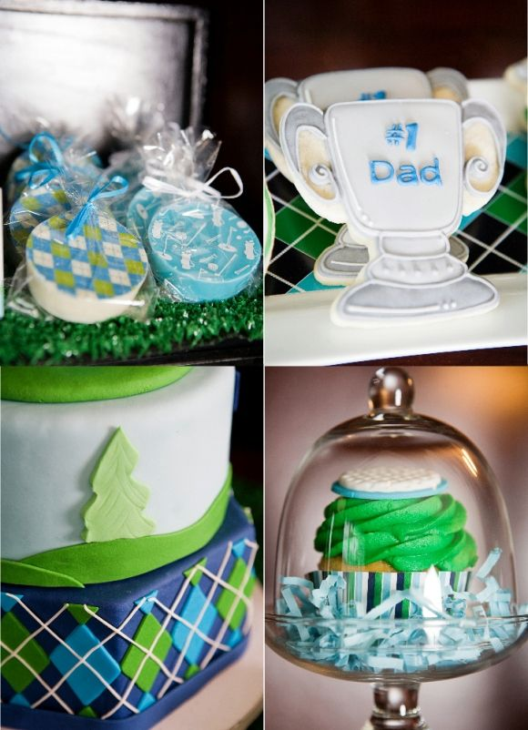Golf Party Ideas and Printables Desserts Table Cakes and Cupcakes