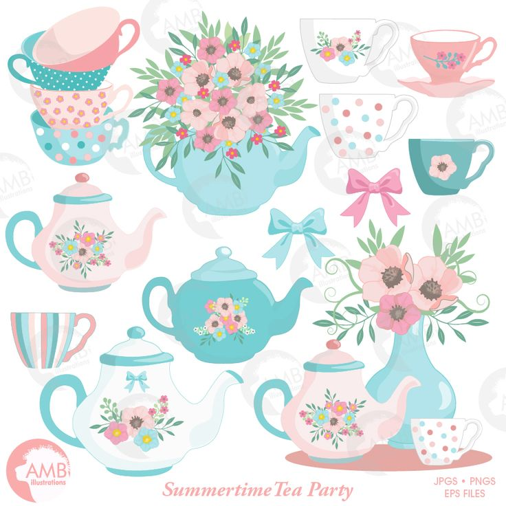 Summer Teatime Clipart: Perfect for your invites and any craft and scrapbooking activity! This high quality pack can also be used for party decorations, greeting cards, invitation cards, cupcake toppers, favour tags, label stickers, scrapbooking, stationary, invitations, gift wrap, ribbons, planners, washi tape, clothing such as t-shirts, baby clothes, buttons, printed fabrics and so much more!
