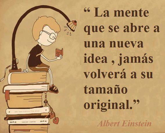 Reflexión Albert Einstein - Nunca dejes de aprender sobre ti mismo y de los demas.