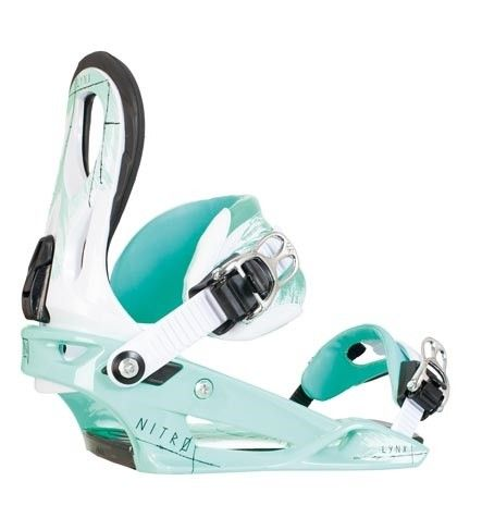 2014 Nitro Lynx - Mint - Women's Snowboard Bindings - All-Mountain Freestyle Snowboard Binding have fun Snowboarding this winter