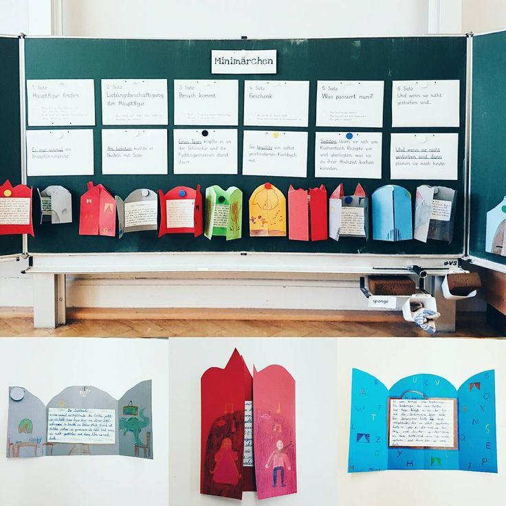 """Minimärchen - nach der Idee von Prof. Dr. Kohl """"Mit Kindern Geschichten erfinden und aufschreiben"""". Die Kinder waren total einfallsreich (beim schreiben und gestalten) und wollten wirklich alle ihr Märchen vorstellen. . . #lehrerleben #lehreralltag #schulalltag #ideenbörse #ideenaustausch #lehramt #referendariat #grundschulalltag #grundschule #lehrerfreuden #stolzelehrerin #teachersofinstagram #unterrichtsideen #teachersfollowteachers #teacherlove #deutschunterricht"""