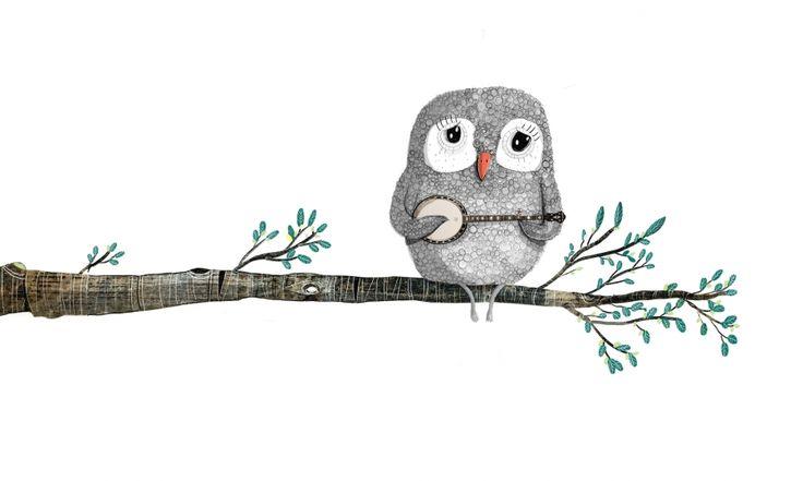 David Litchfield - Owl playing BlueGrass Blues