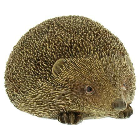 Festive 14.8cm Large Polyresin Hedgehog, Brown
