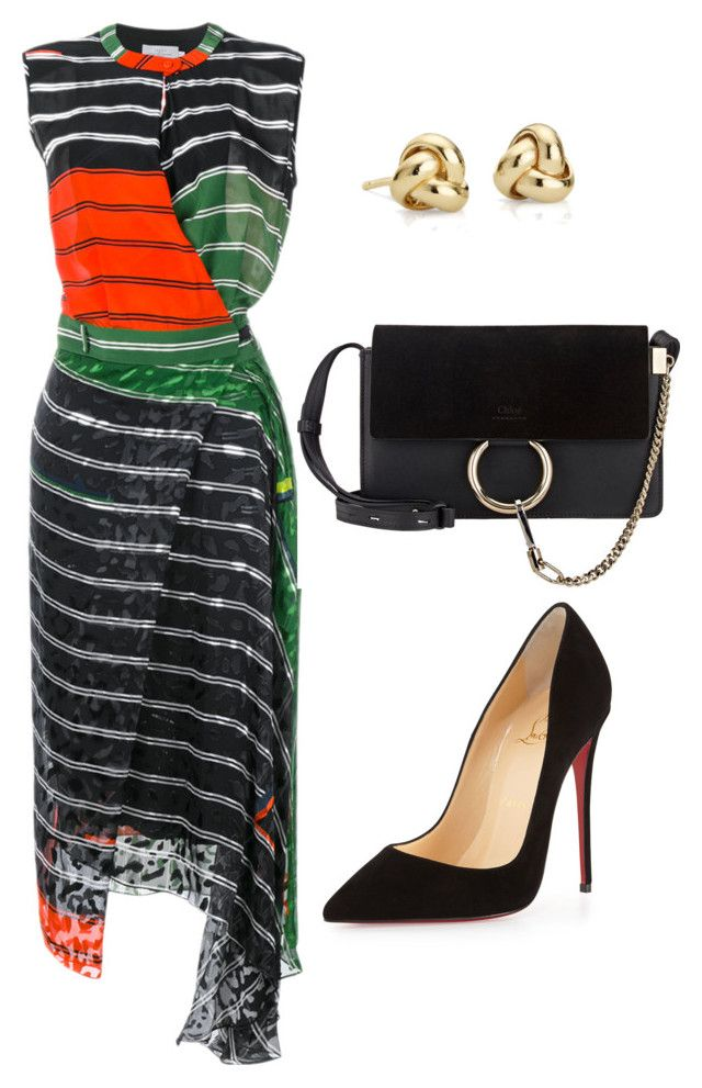 style theory by Helia by heliaamado on Polyvore featuring polyvore fashion style Preen Christian Louboutin Chloé Blue Nile clothing