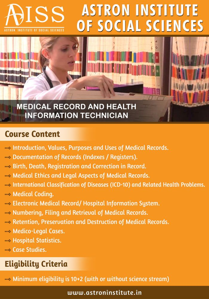 35 best Medical Records and Health Information Management - medical records job description