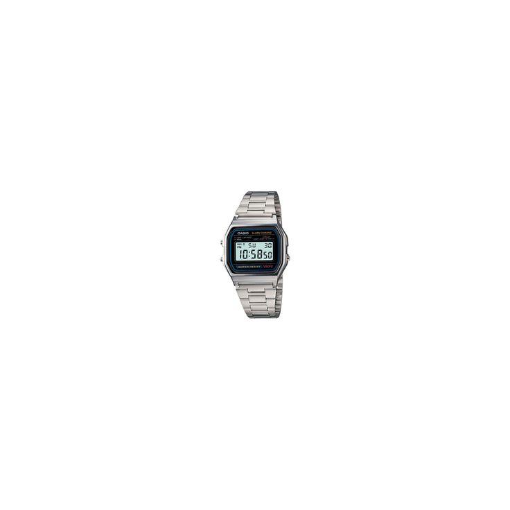 Men's Casio Digital Bracelet Watch - Silver (A158W-1)