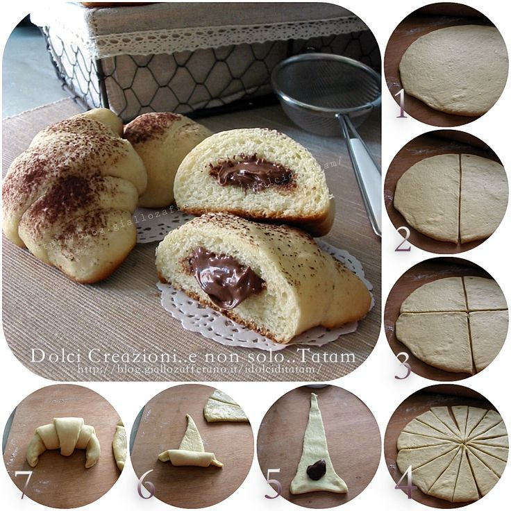 Cornetti morbidi alla nutella, ricetta fotografata