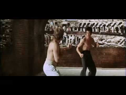 Bruce Lee Vs Chuck Norris (Way of the Dragon) Climactic Fight to Death + a cat