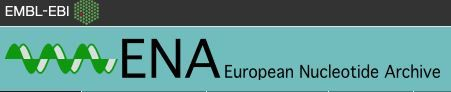 "European Nucleotide Archive / EMBL ""The European Nucleotide Archive (ENA) provides a comprehensive record of the world's nucleotide sequencing information, covering raw sequencing data, sequence assembly information and functional annotation"""