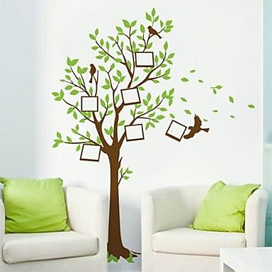 stickers muraux stickers muraux, arbres naturels&Cadres photos murales de pvc autocollants - EUR € 10.90