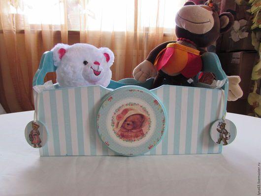 Детская ручной работы. Ярмарка Мастеров - ручная работа. Купить Ящик для детских игрушек,книжек,мелочевки. Handmade. Морская волна