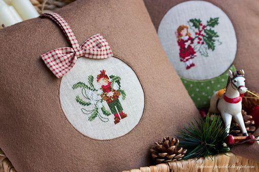 ornaments christmas pillows