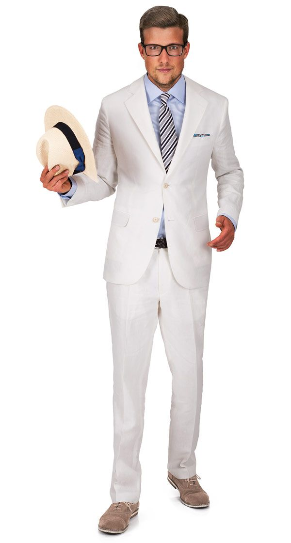 Off-White Linen Suit