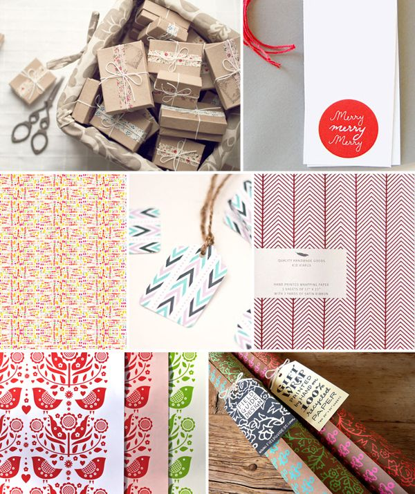 Holiday Gift Wrap Inspiration, Part 3: Gifts Wraps Ideas Inspiration2, Beautiful Paper, Dutch Door, Holidays Gifts, Wraps Inspiration, Holiday Gifts, Gifts Tags, Wraps Paper, Gifts Boxes