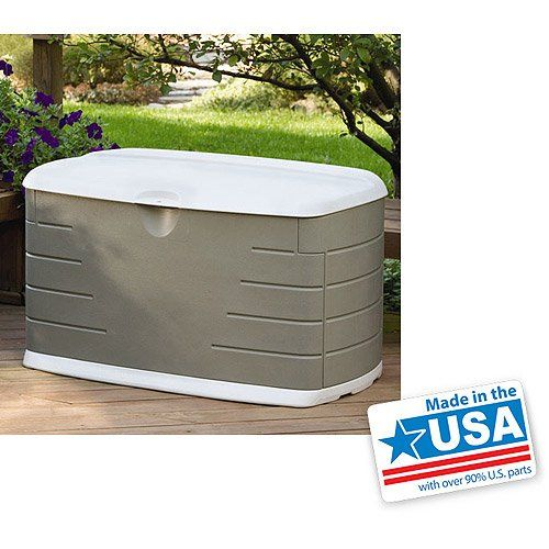 75-Gallon Outdoor Storage Box, Lockable, Comfortable Lid For Seating > Use for storing grilling supplies, gardening tools, children's toys and much more Lockable storage box has a generous 75-gallon capacity Rubbermaid outdoor storage box doubles as seating space with lid closed Check more at http://farmgardensuperstore.com/product/75-gallon-outdoor-storage-box-lockable-comfortable-lid-for-seating/