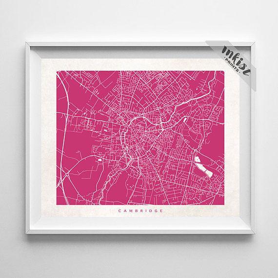Cambridge Map, Cambridge Print, England Poster, England Art, Art Prints, Wall Art, Giclee Art Poster, Office Wall Decor, Christmas Gift, Wall Art. PRICES FROM $9.95. CLICK PHOTO FOR DETAILS.#inkistprints #map #streetmap #giftforher #homedecor #nursery #wallart #walldecor #poster #print #christmas #christmasgift #weddinggift #nurserydecor #mothersdaygift #fathersdaygift #babygift #valentinesdaygift #dorm #decor #livingroom #bedroom