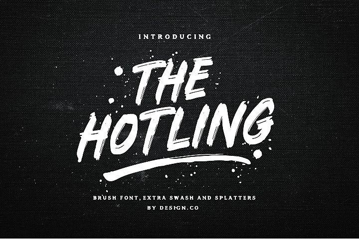 The Hotling Brush Font Extras Brush Font Cool Fonts Graffiti Font