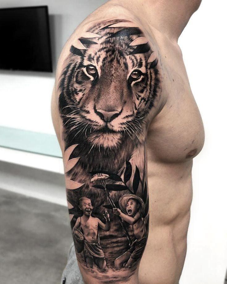 Jungle Tattoo Ideas : jungle, tattoo, ideas, Jungle, Tattoo,, Tattoos,, Tattoos
