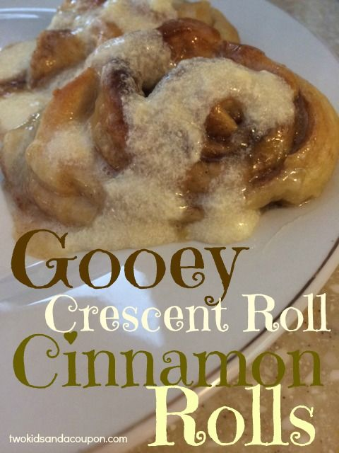 Gooey Crescent Roll Cinnamon Roll Recipe | Cinnamon Rolls | Pinterest