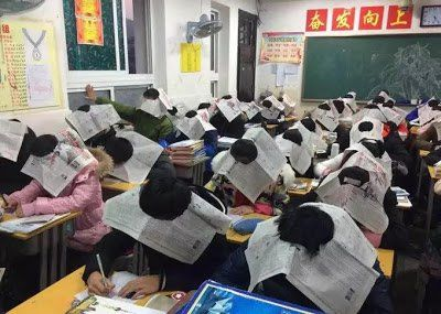 Busted!! See What A Teacher Did To Prevent Students From Cheating In An Exam (Photos)