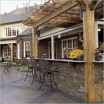 198 best patios images on pinterest decks for the home for Outdoor kitchen under deck
