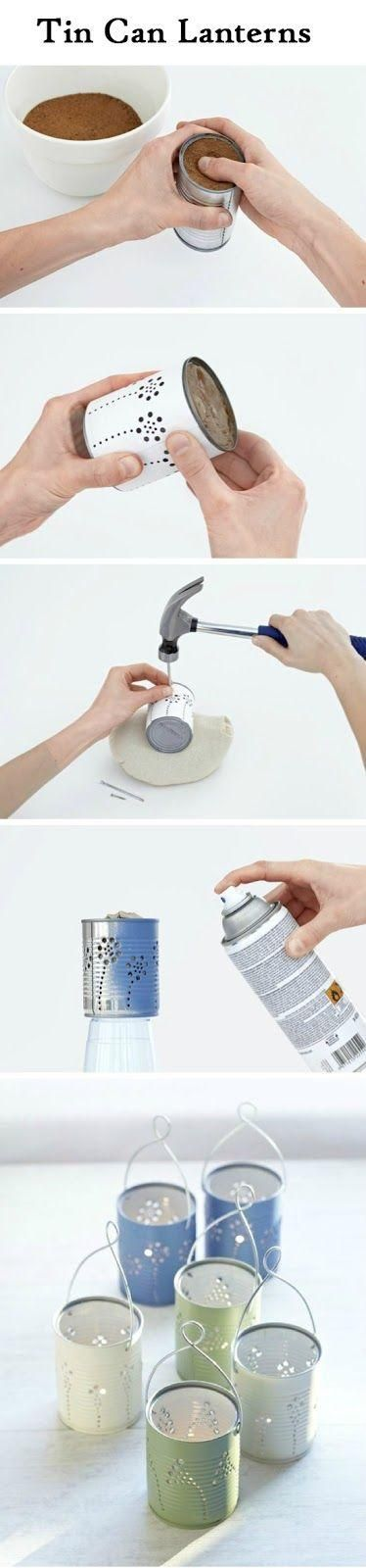 Crafts and DIY Community: Tin Can Lanterns | Crafts and DIY Community