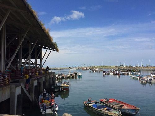 On the way, from Casco Viejo to Balboa Avenue you'll go through a cool fish market #Panama #FishMarket #RTW #JulesVernex2 More in our stay in Panama on our travel blog julesvernex2.com