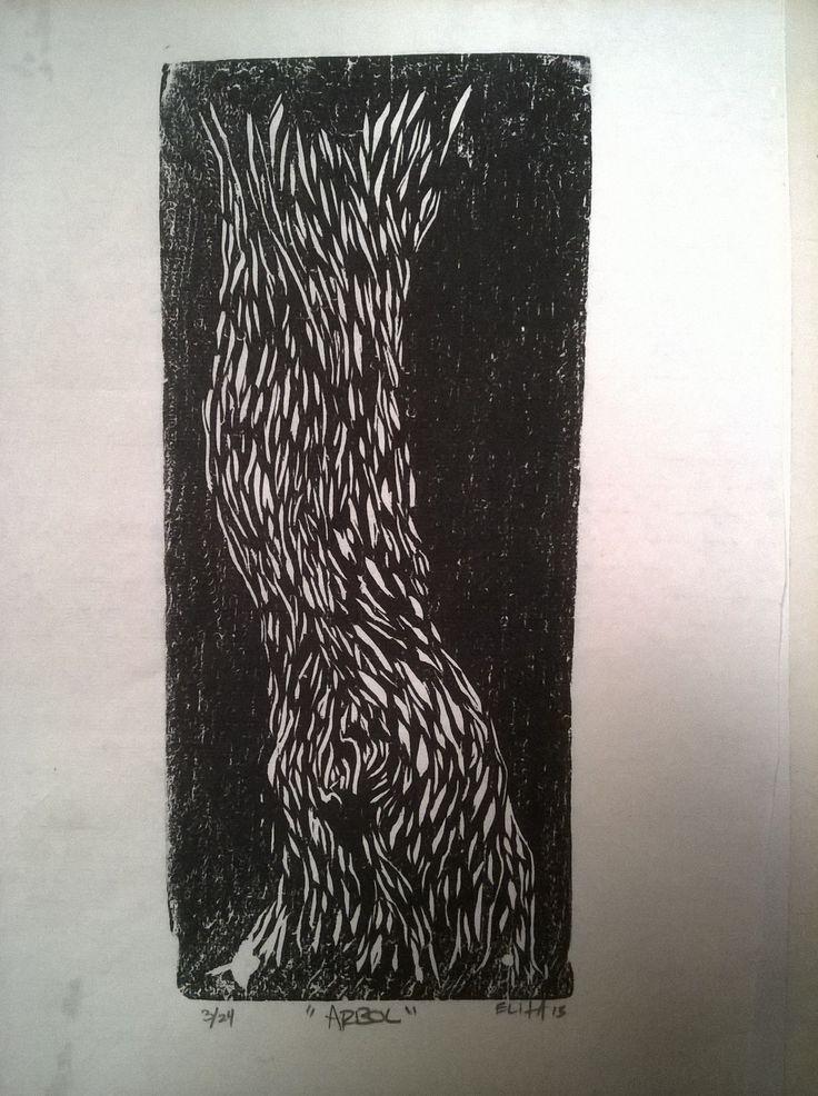 ¨Arbol¨ Xilografia. grabado en madera