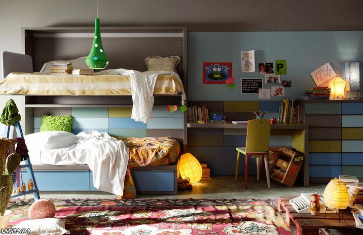 57 best images about lagrama on pinterest - Habitacion juvenil barcelona ...