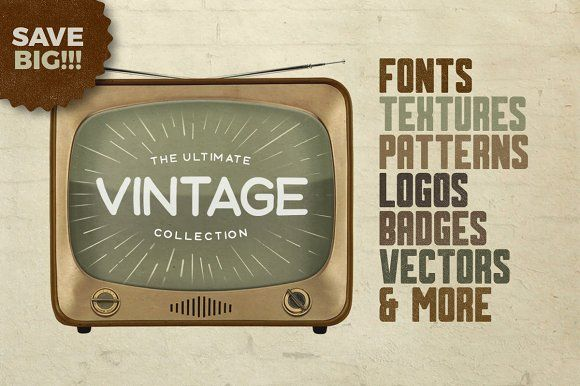 The Vintage Collection • Save 85% by Tugcu Design Co. on @creativemarket