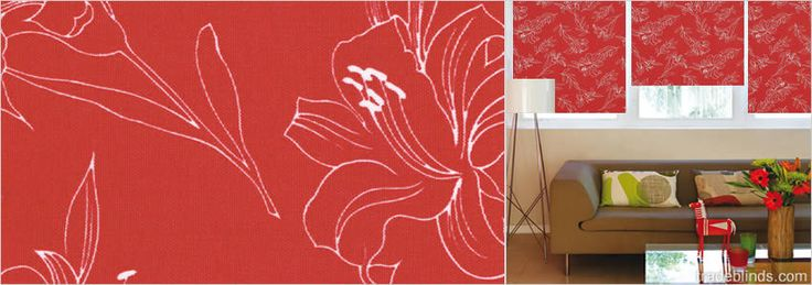 Orchid Rosa Contemporary Patterned Roller Blinds - Wide