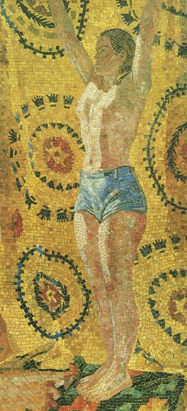 Alexander Deineka. Mosaics. Morning. 1949