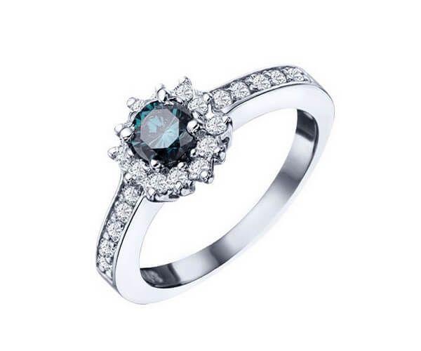 Assez Les 25 meilleures idées de la catégorie Bagues en diamant bleu sur  PA39