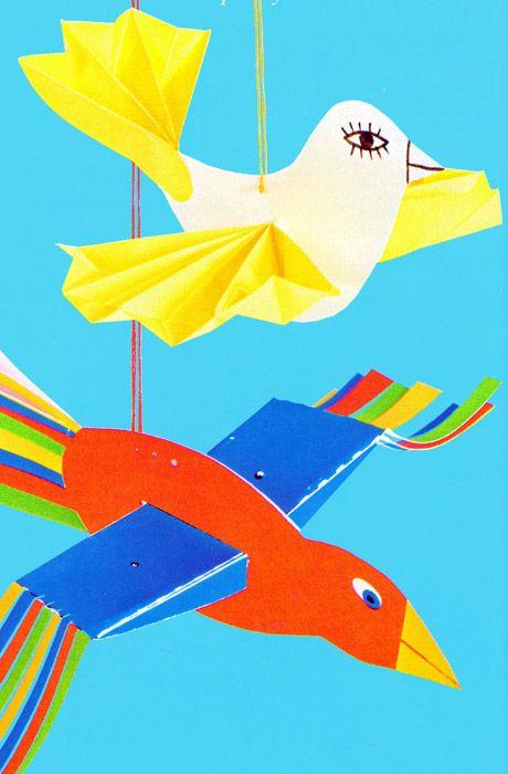 vogels knutselen met kleuters / Игрушка-мобиль Птицы