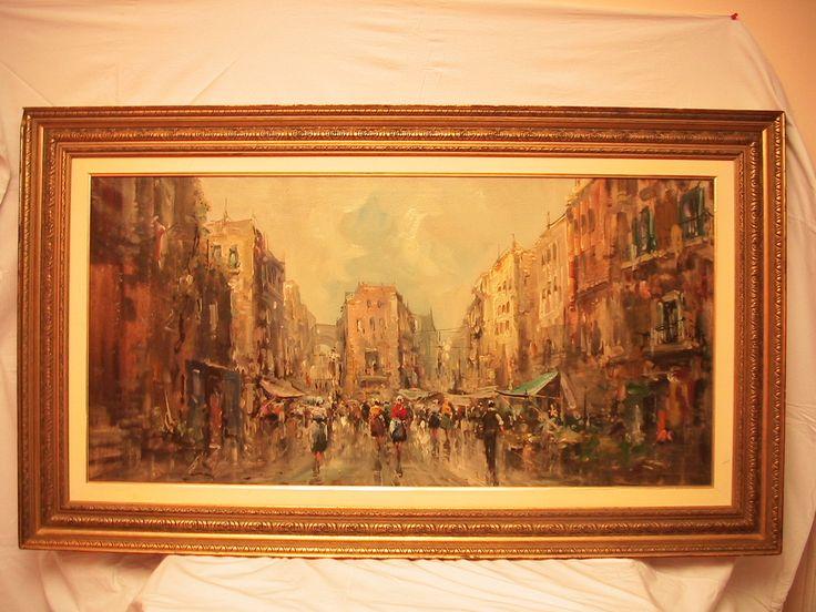 """Картина """"Парижская улица"""",  65 х 125, холст, масло, багетная рама арт. 1337, http://antique-store.com.ua/"""