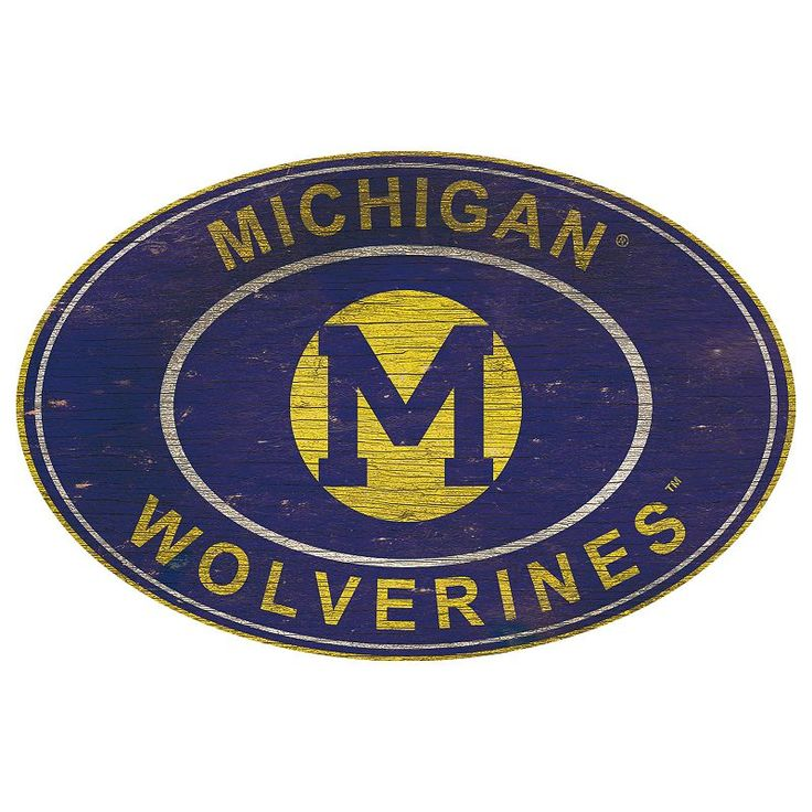 Michigan Wolverines Heritage Oval Wall Sign, Multicolor
