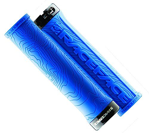 Bike Grips - Race Face Half Nelson Locking Grip Blue *** More info could be found at the image url.