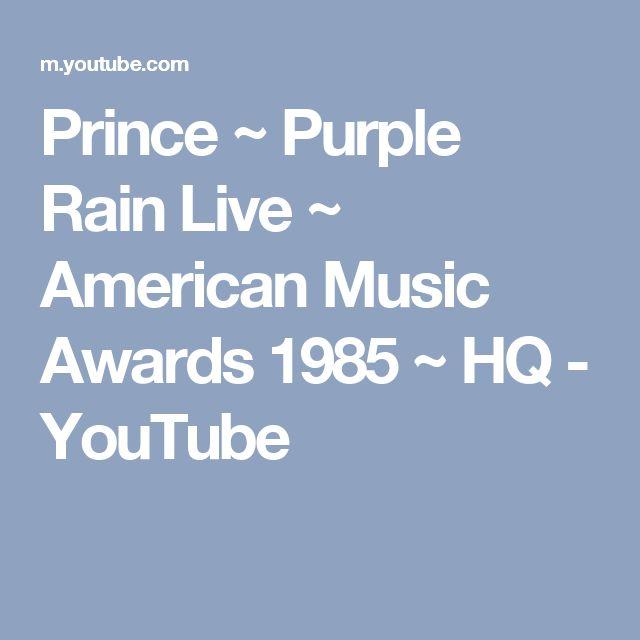 Prince ~  Purple Rain Live ~ American Music Awards 1985 ~ HQ - YouTube
