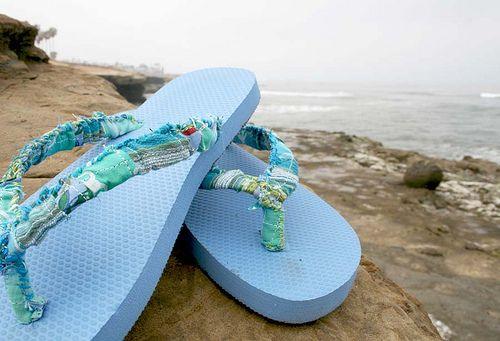 altered flip flops - fun!