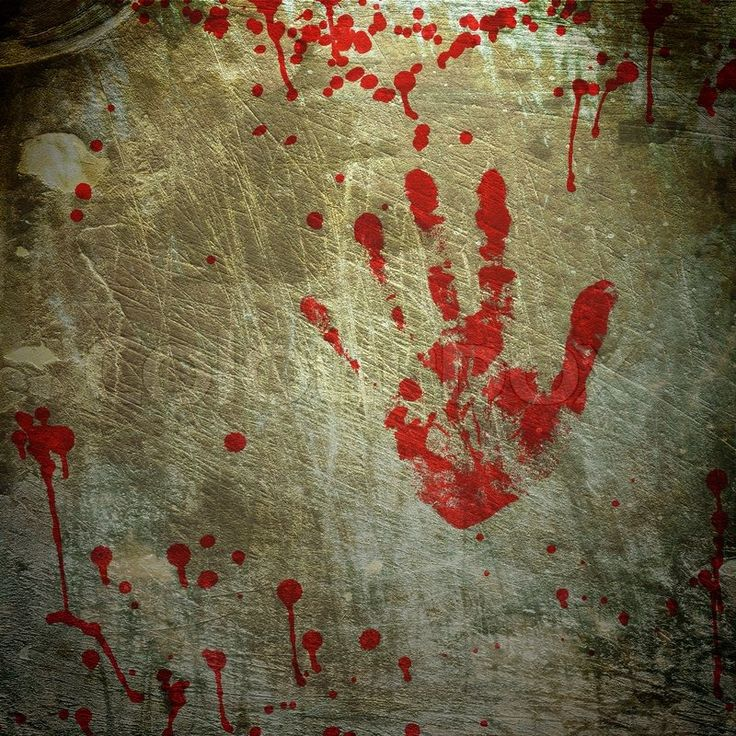 Grunge background with a print of a bloody hand | Stock Photo ...